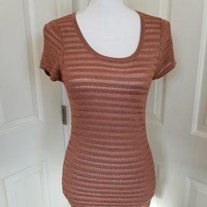 Ann Taylor Bronze Short Sleeve Sweater